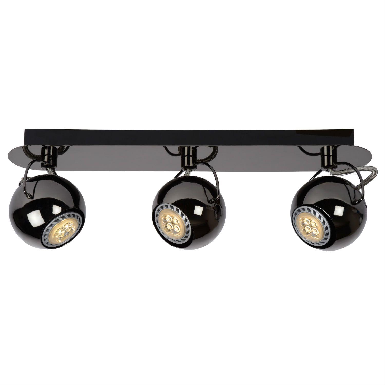 MINI ET Rampe 3 Spots Chrome Noir L42cm Lucide