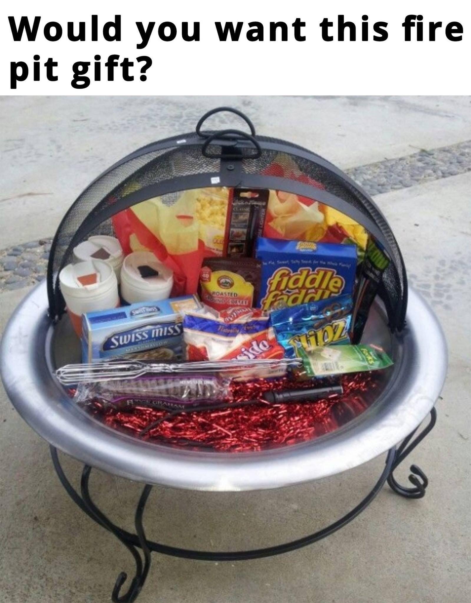 Fire pit gift idea   Gift Ideas   Pinterest   Gift
