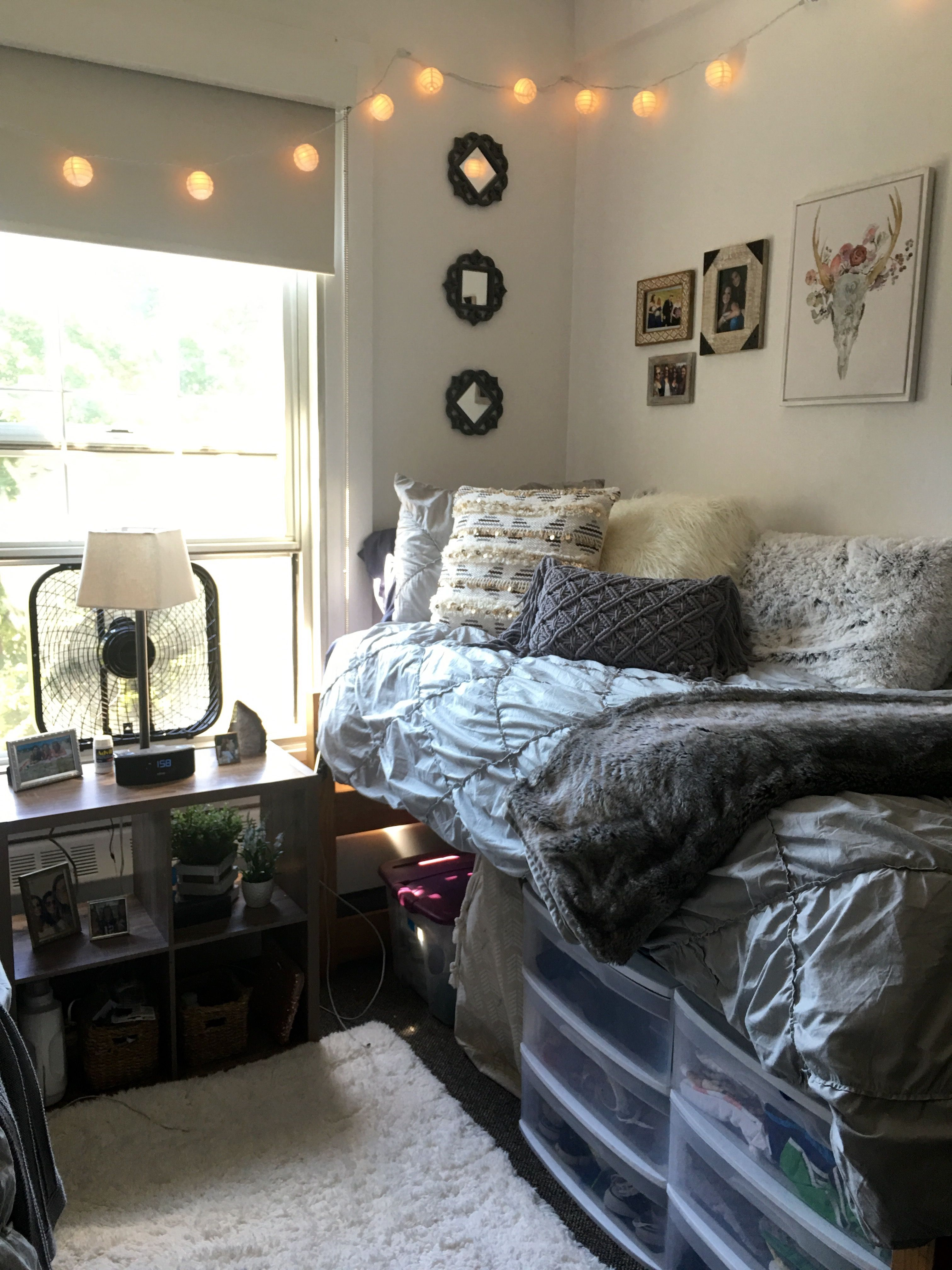 Holy cross dorm common room with target temporary wallpaper targethomedecor homeschoolingroom also fantastic college bedroom decor ideas and remodel rh pinterest