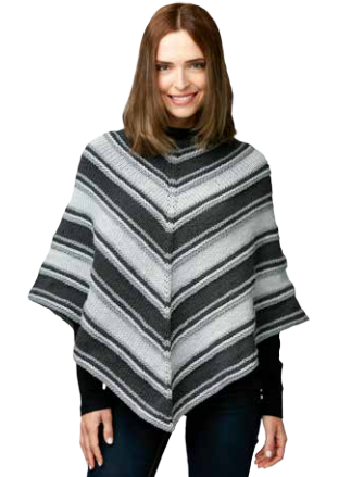 Fade To Grey Easy Poncho Pattern Knitting Crocheting Pinterest