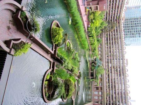 Sunken gardens at the Barbican London - amazing...