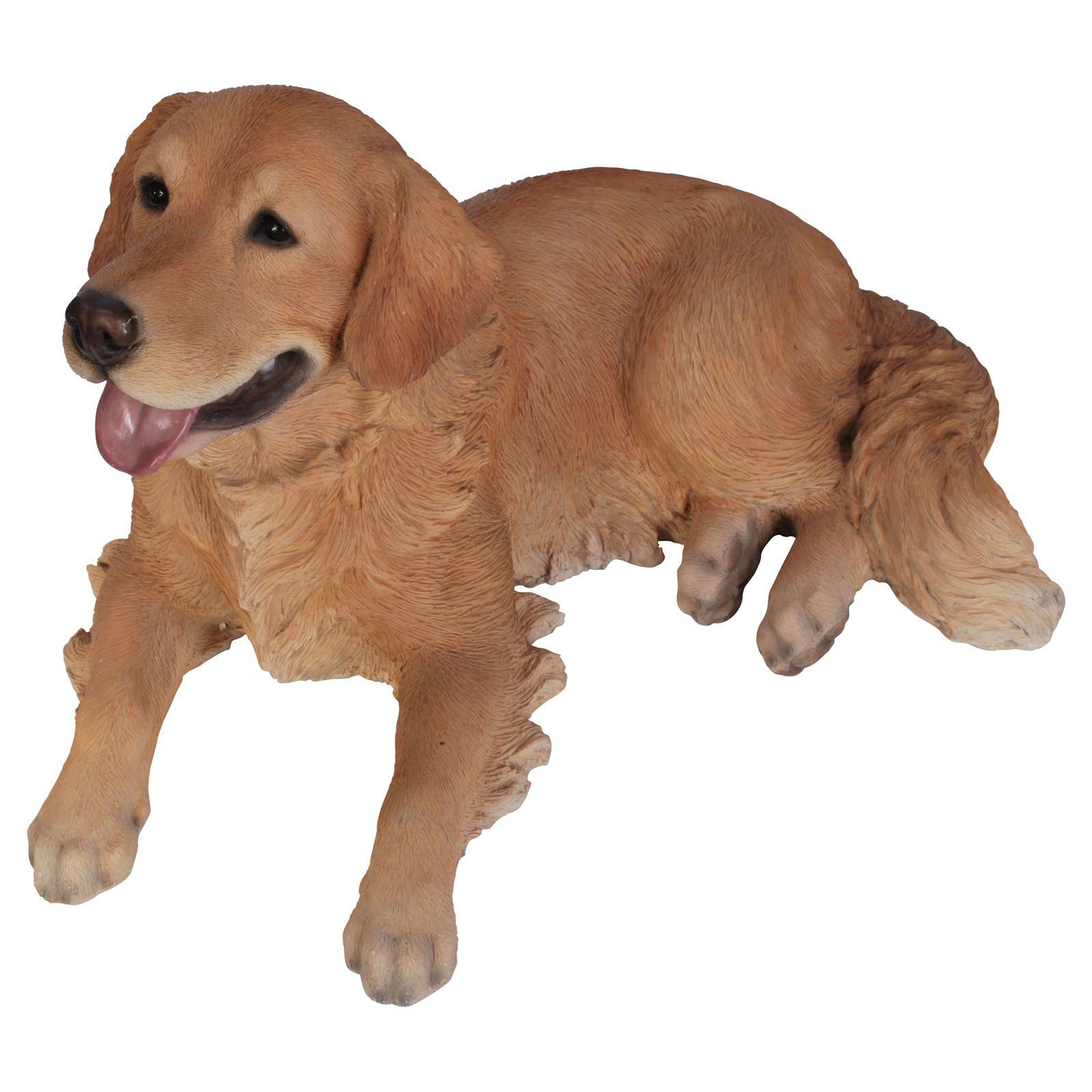 Vivid Arts Laying Golden Retriever Statue   $ @hayneedle