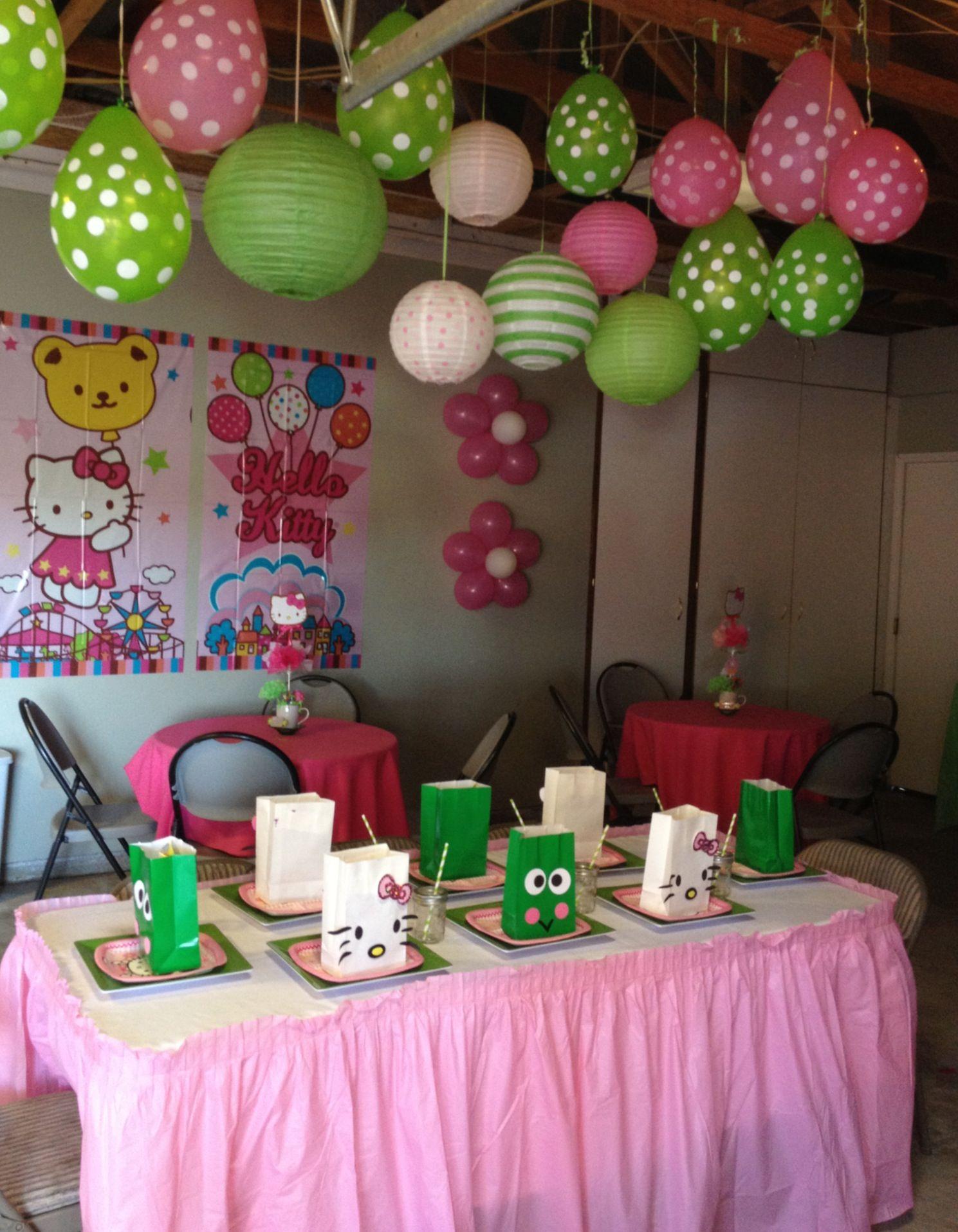 Hello Kitty Birthday Party Set Up Hello Kitty Birthday Party
