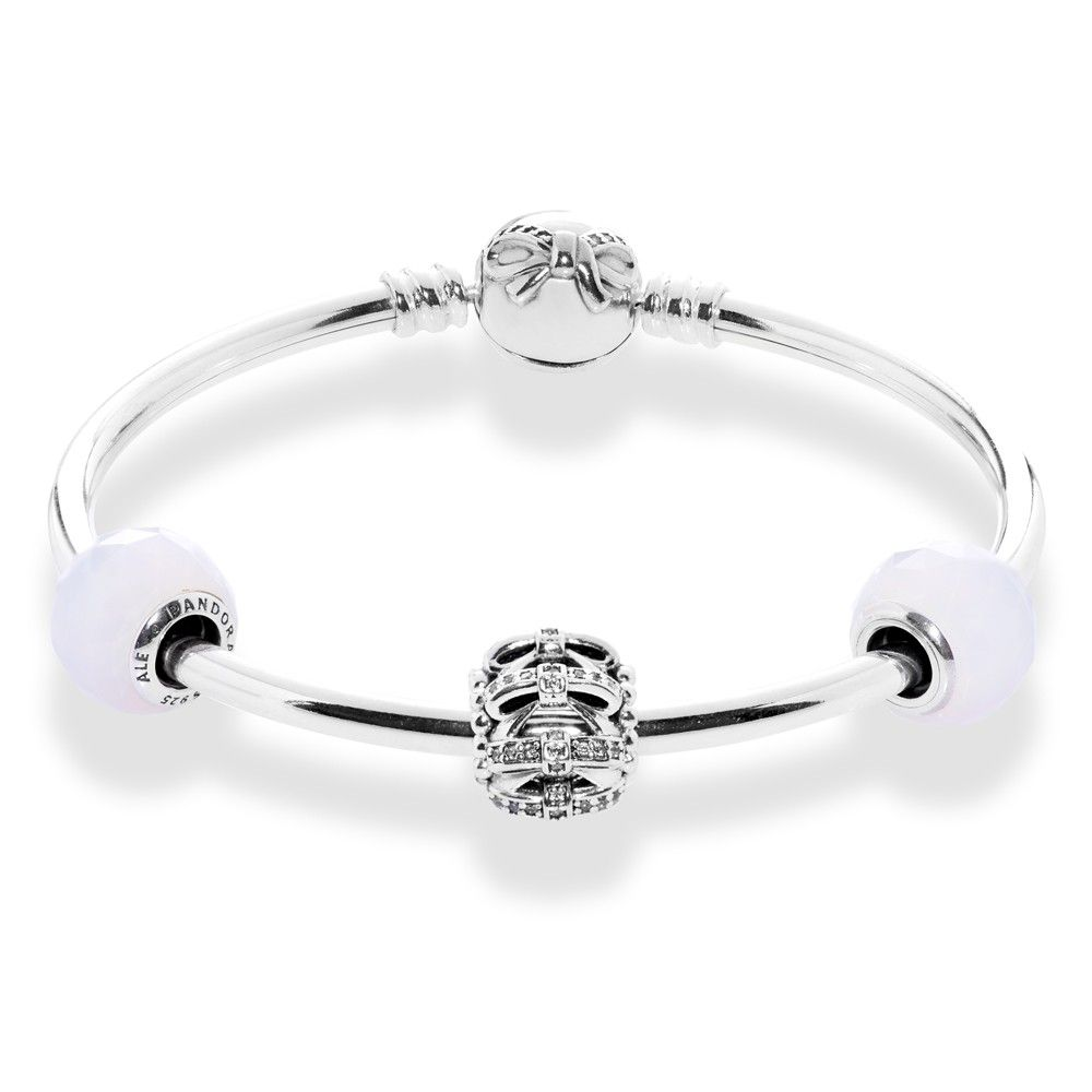 ef7eb002a Pandora Dainty Bow Complete Bangle CB490 | The Jewel Hut | Gift Wish