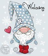 Welcome Winter Gnome, flocons de neige, signe d'hiver 8.25
