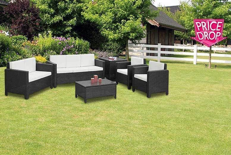 buy 6pc large rattan furniture set 2 colours uk deal for just 34900