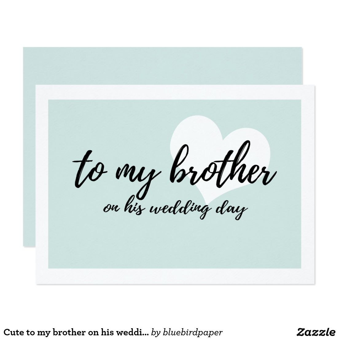 cute to my brother on his wedding day | wedding day cards