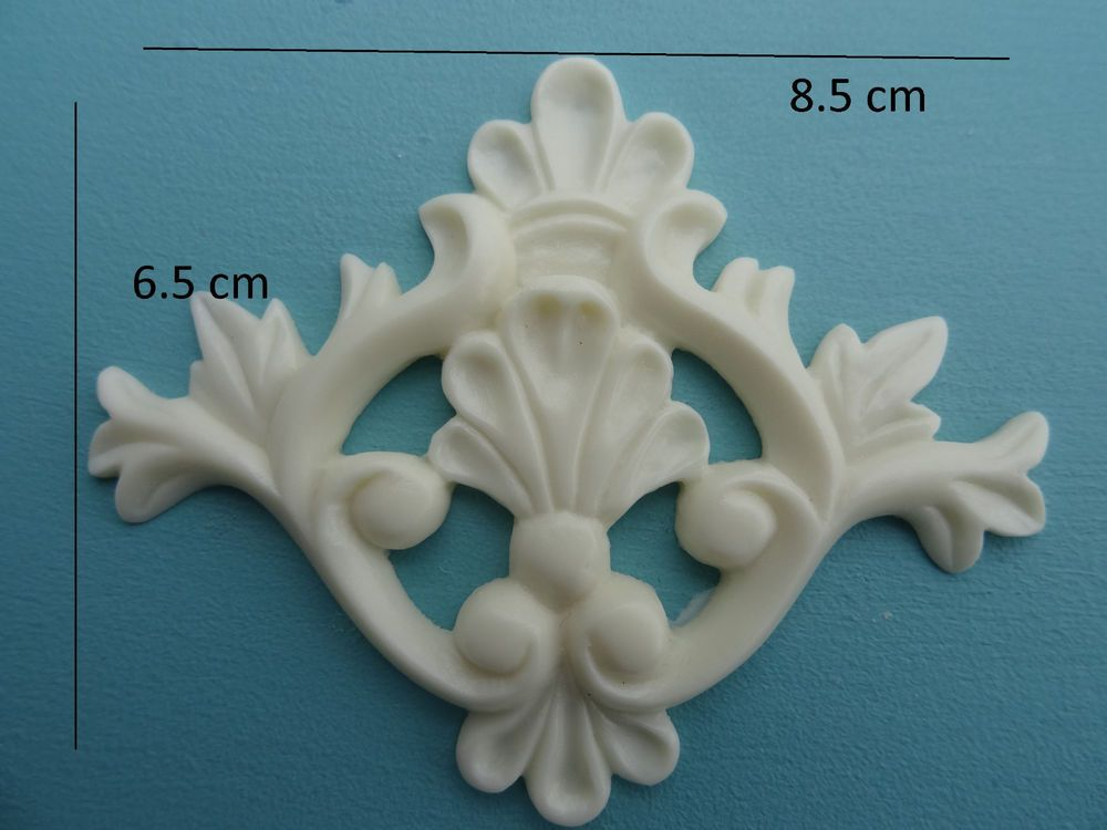 Decorative shell applique onlay resin furniture moulding SS1