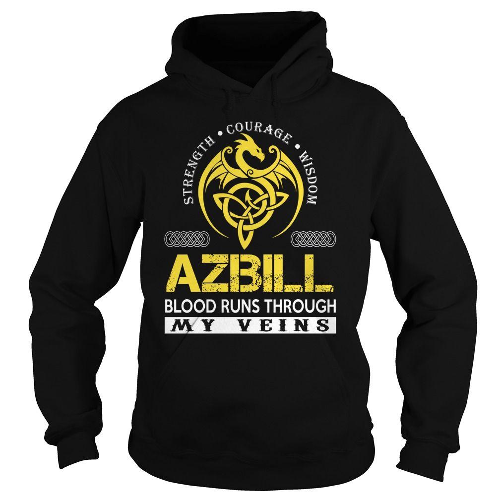 AZBILL Blood Runs Through My Veins - Last Name, Surname TShirts