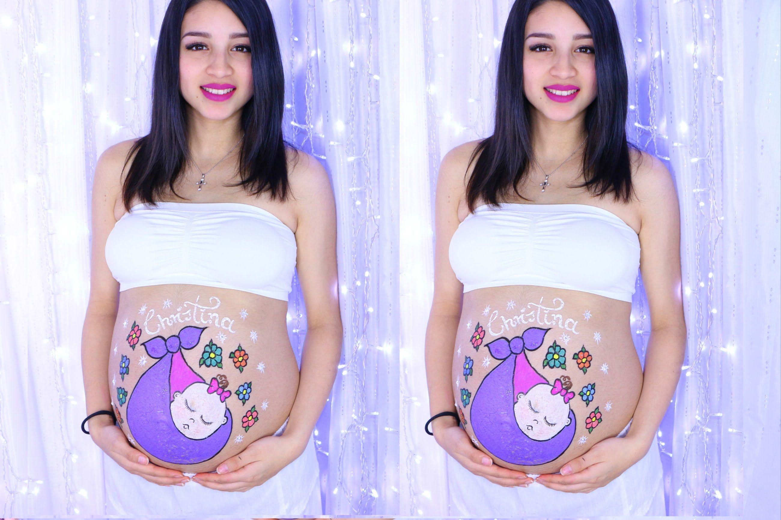 Dibujando La Pancita De Mi Amiga Vientre Embarazado Dibujo Barriga Embarazada Panzas De Embarazadas Pintadas
