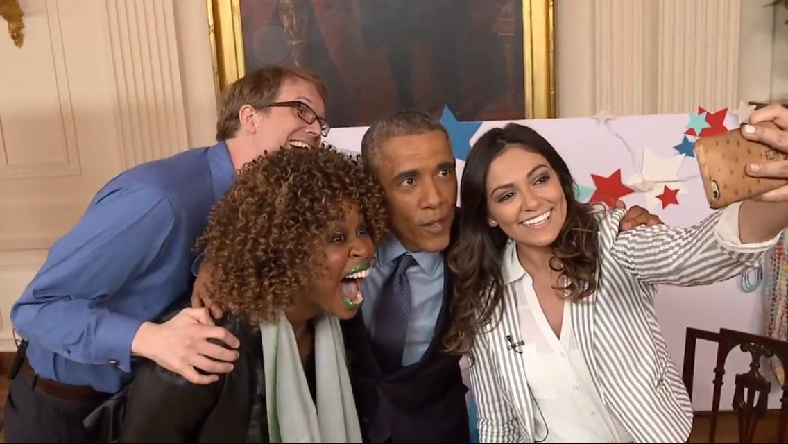 Can you believe that Bethany Mota interviewed president Barack Obama