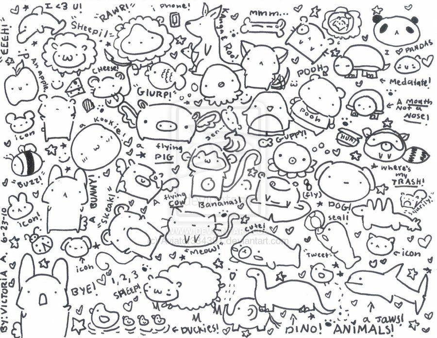 A Page Of Random Cute Doodles Cute Doodles Cute Doodles Drawings Doodle Drawings