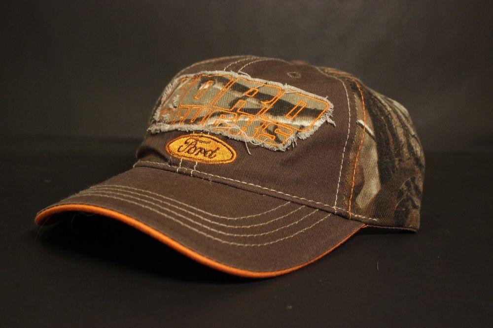 3ac66253c12 Ford Trucks Hat Baseball Cap Realtree Camo Blaze Orange Brown Adjustable  Hunting  H3Headwear  BaseballCap