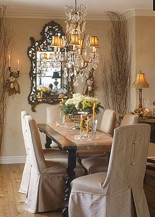 Love The Elegance Of These Neutrals Tones And Stylish Light Fittings Mirror Country Dining RoomsElegant