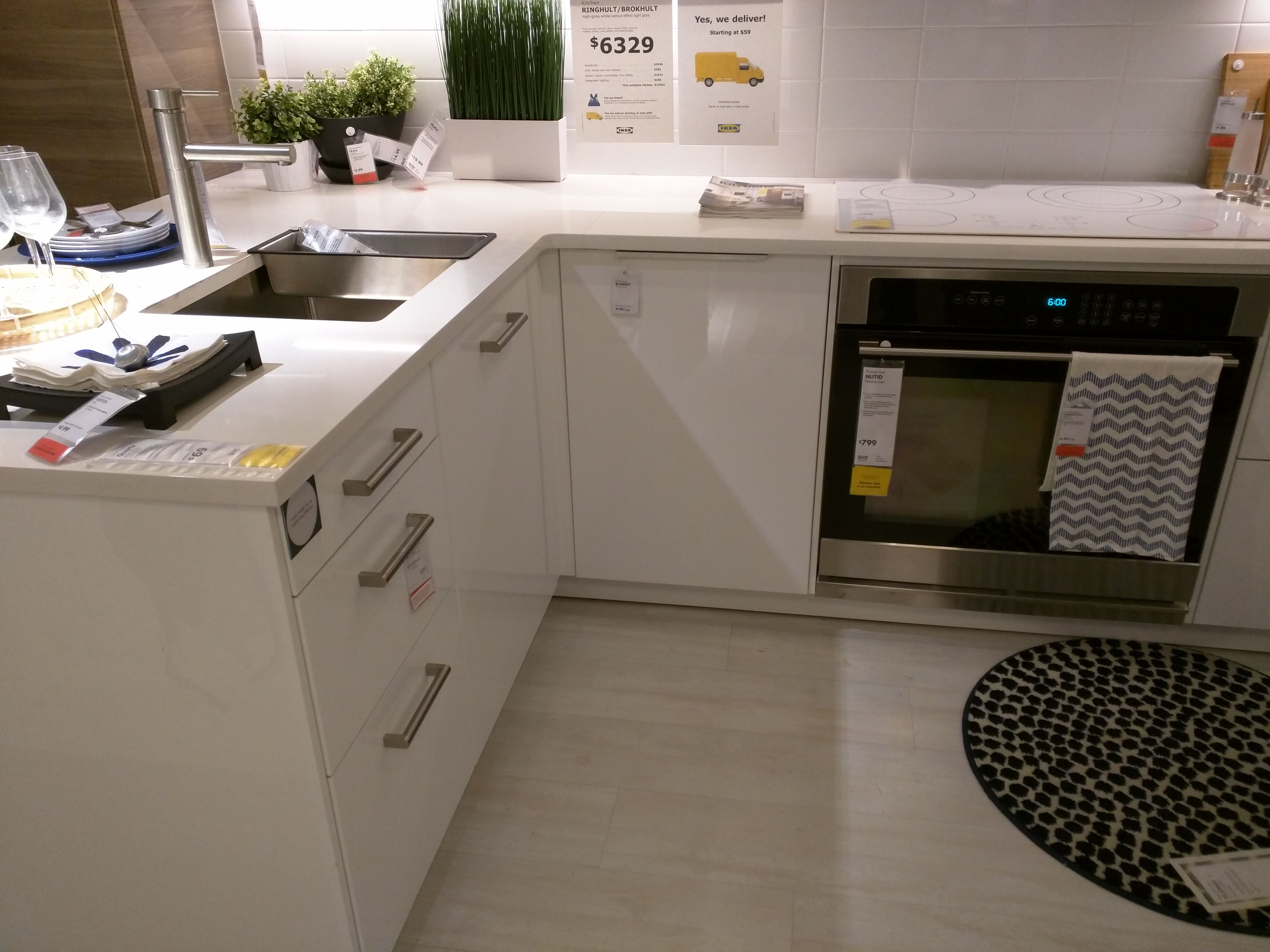 kitchen style from ikea. like the cabinet doors ( white ...