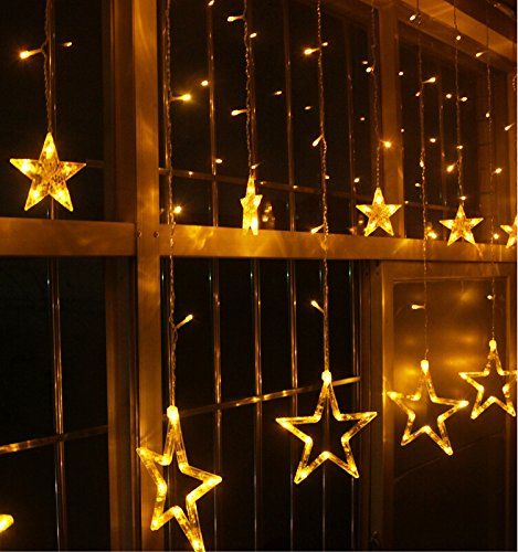 String Lights Stars : Seedan Stars (6 Small 6 Big) Design LED Fairy String Lights Warm White Color (Like Yellow ...