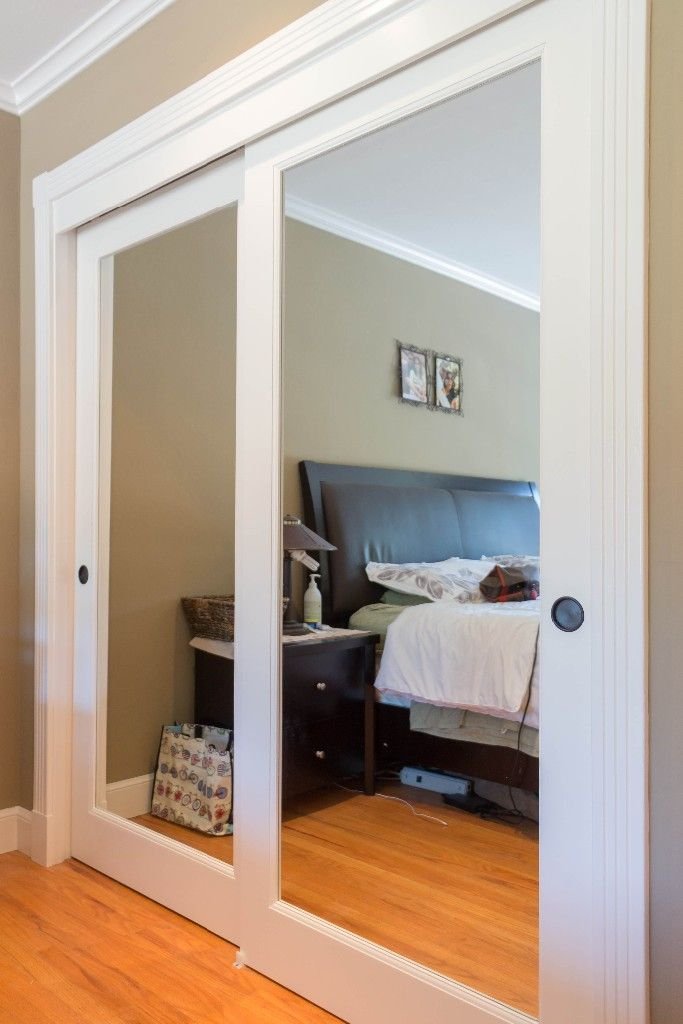 Bypass Closet Doors Glass Closet Doors Closet Remodel Bedroom