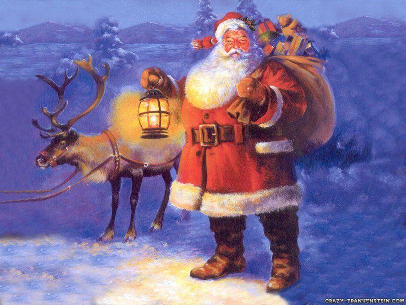 Santa Claus Wallpaper Christmas New Year Backgrounds Desktop Wallpapers