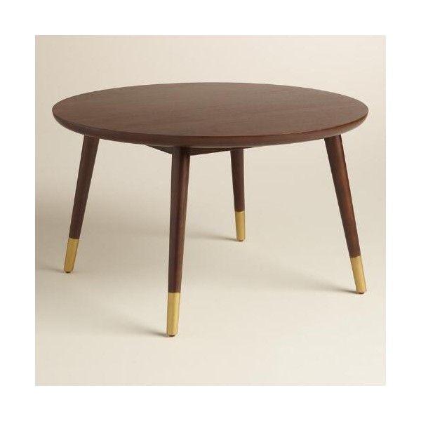 Cost Plus World Market Large Wood Randon Coffee Table 43 Liked On Polyvore