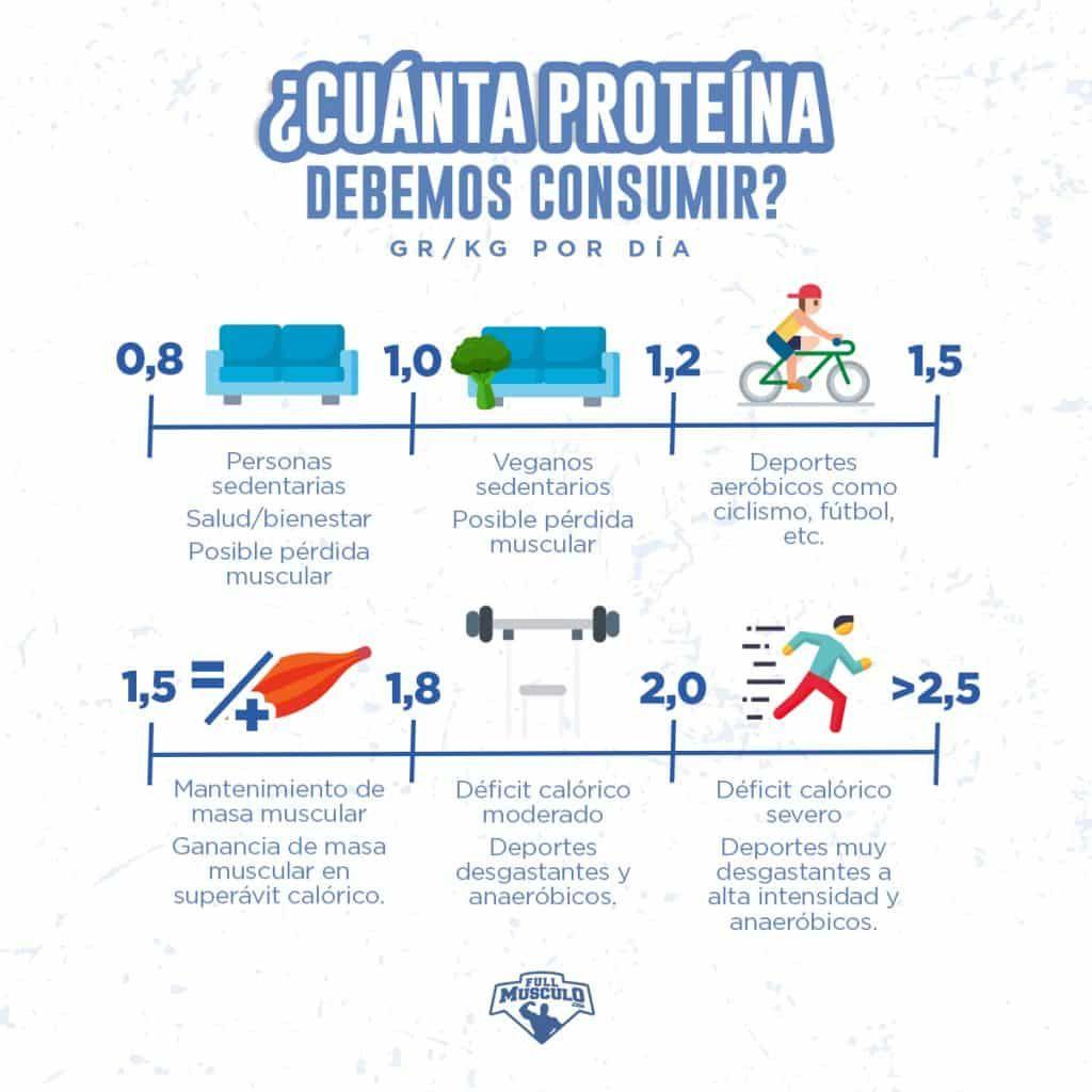 cuanta proteina debemos consumir por dia