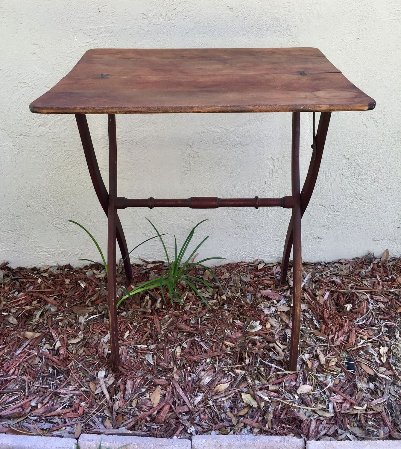 Folding Card Table Campaign Table Wood Table Small Table Etsy Primitive Tables Wood Table Small Tables