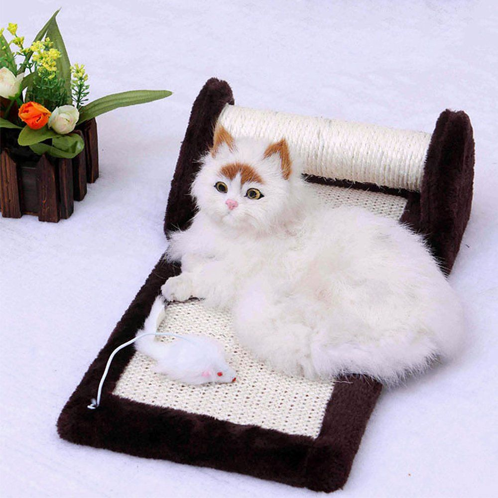 1pc Coffee Durable Cat Play Scratching Board Pad Bed Mat Toy Scratcher Accessories You Can Find Out More Details At The Link Of Cat Fleas Pet Toys Cat Odor