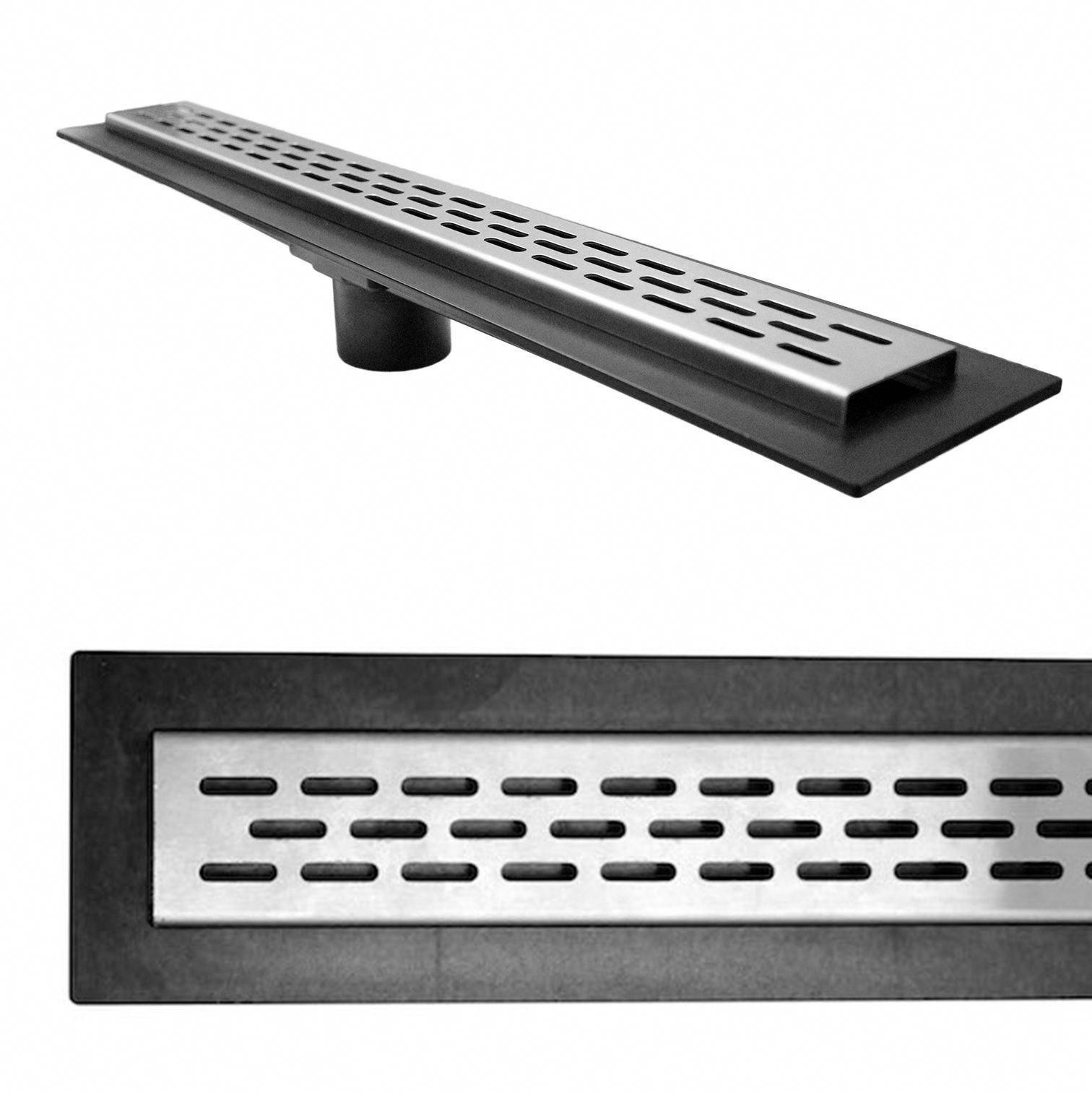 Linear Shower Drain Oval Grate 32 Stainless Steel Drain Body