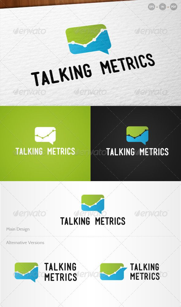 Talking Metricsu0027 Internet Marketing - Logo Design Template Vector - marketing analysis template