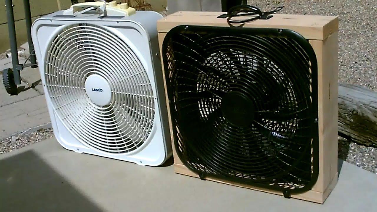 Homemade 12v Dc Box Fan Full Size 100 Solar Or Battery Pwrd Diy Solar Solar Fan Solar Power