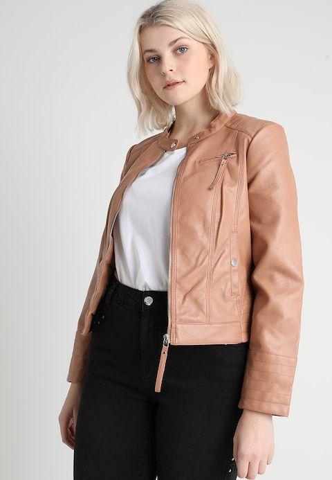 hyvä istuvuus houkutteleva hinta uk myymälä VMLYON SOFFY JACKET - Faux leather jacket - café au lait ...