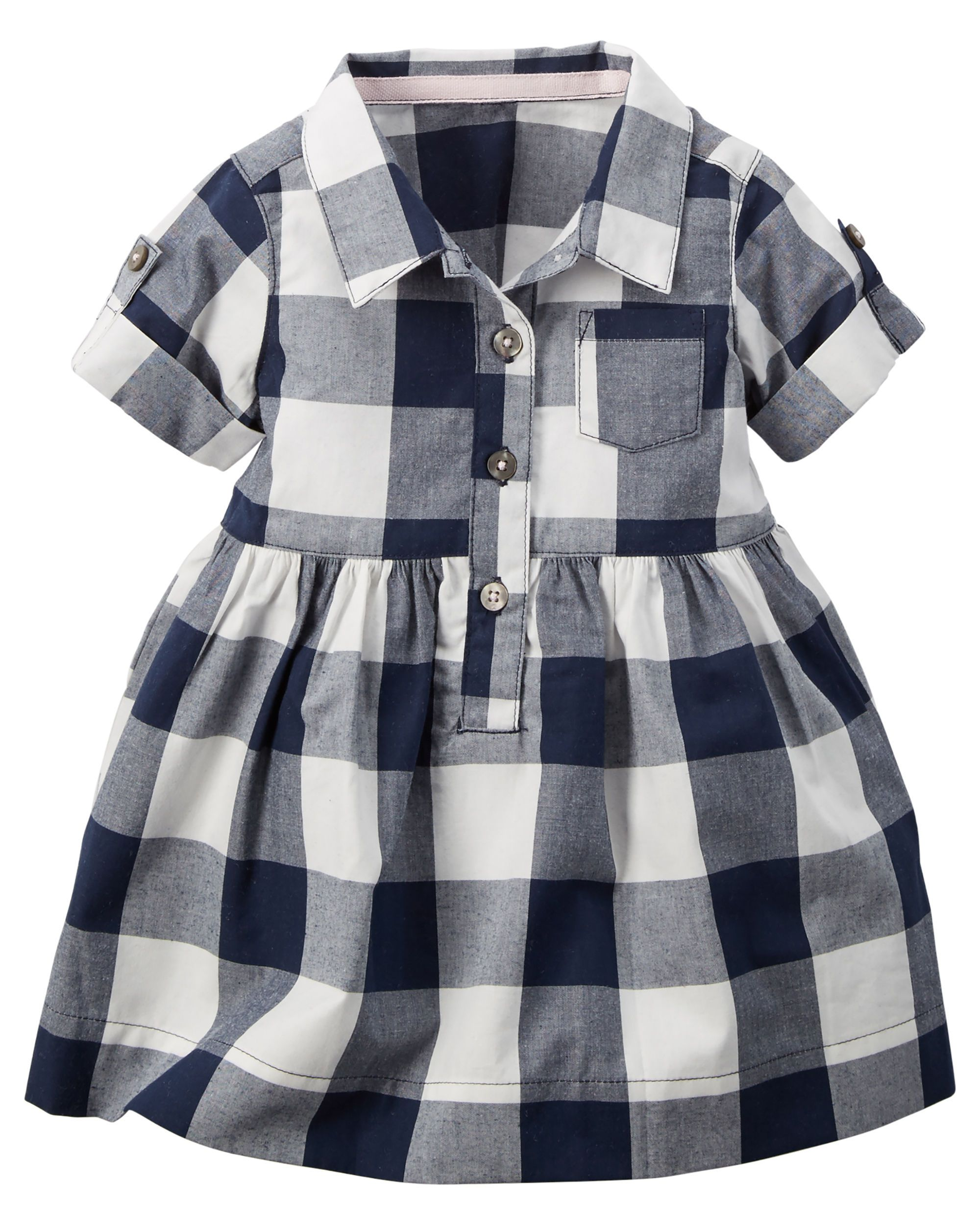 aff6676dbb3 ... baby girl fashion outfits featuring super lovely prints and hues.  Buffalo Check Shirt Dress
