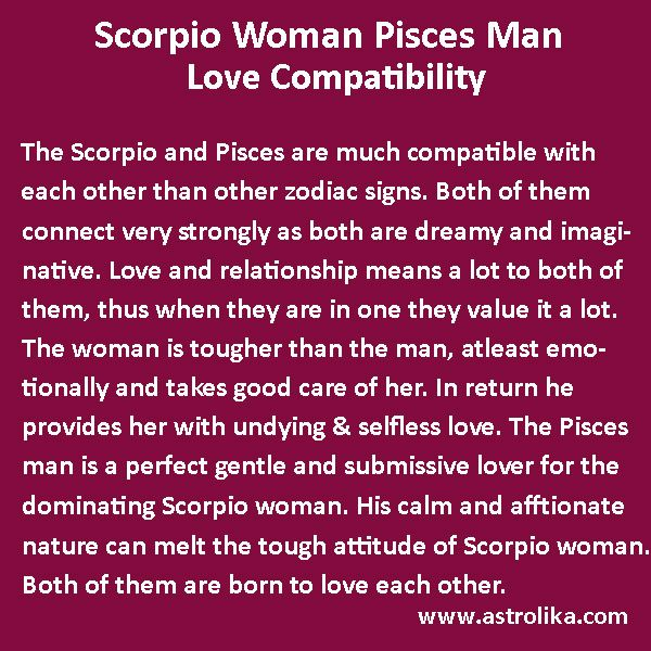 Scorpio Woman And Pisces Man Love Compatibility At -7504