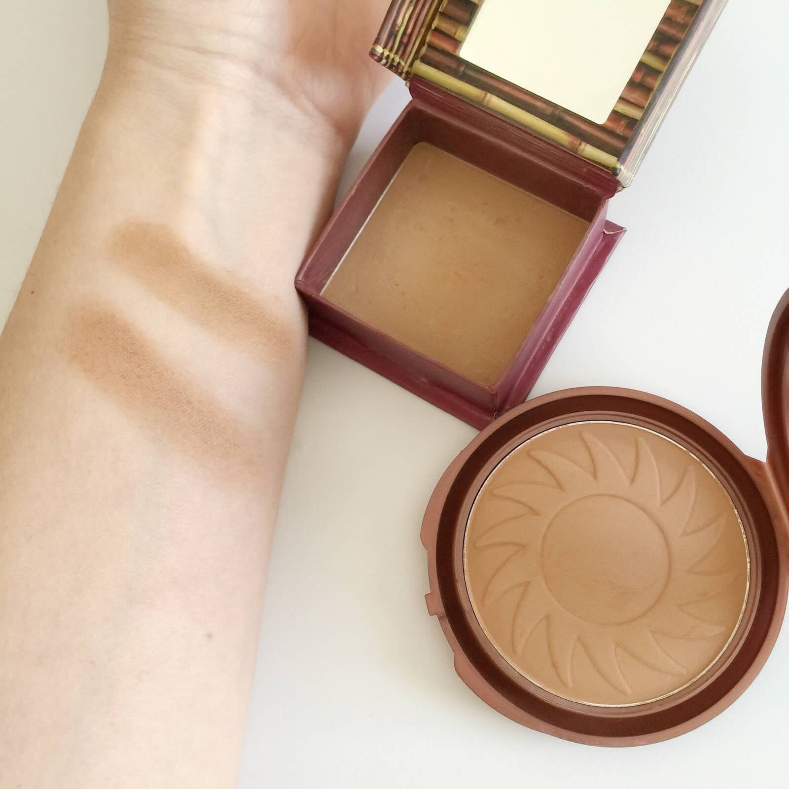 Hoola Dupe. NYC Sunny Bronzer love sunny Makeup dupes