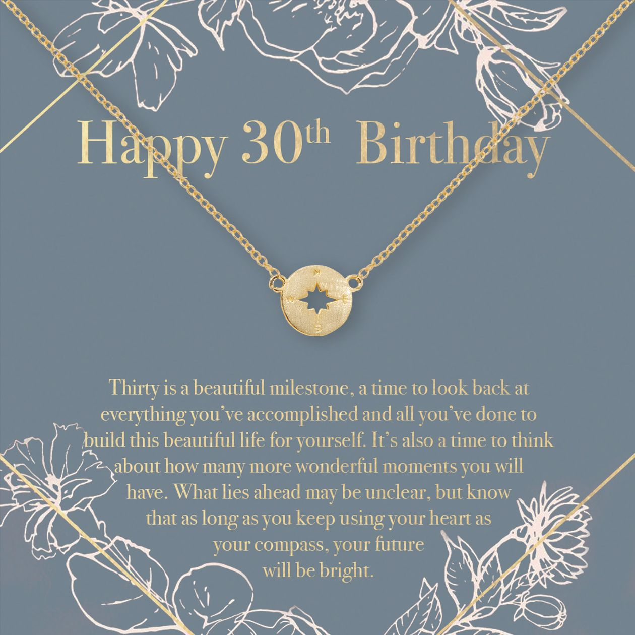 30th Birthday Necklace, Multiple Styles (With images