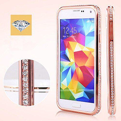Galaxy S5 Case Luxury Diamond Crystal Rhinestone Bling Metal Frame Bumper Case For Samsung Phone Case Accessories Phone Case Design Phone Cases Samsung Galaxy