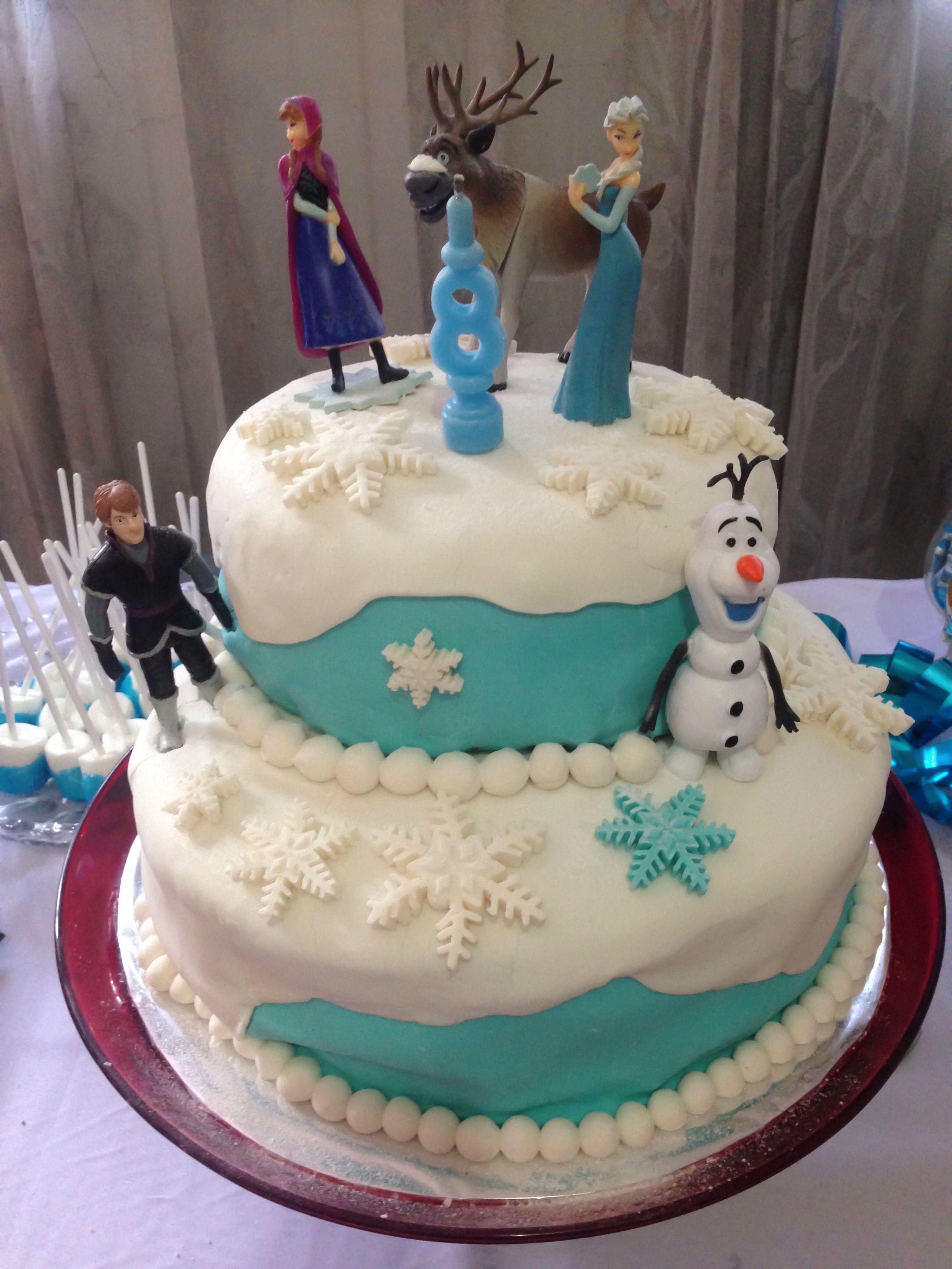 Azzuras Diy Frozen Birthday Cake Khloes Birthday Party