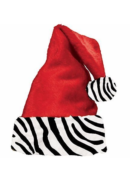 9d85f12fb2263 Deluxe Santa Helper Hat Sexy Red Zebra Cuff Santa Baby NEW One-size   Holiday  PlushSantahatwithZebraTrim