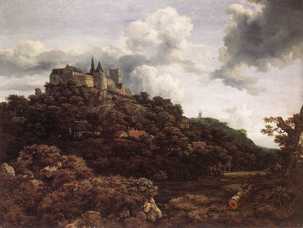 Landscape with a House in the Grove - Jacob Isaakszoon van Ruisdael - WikiArt.org