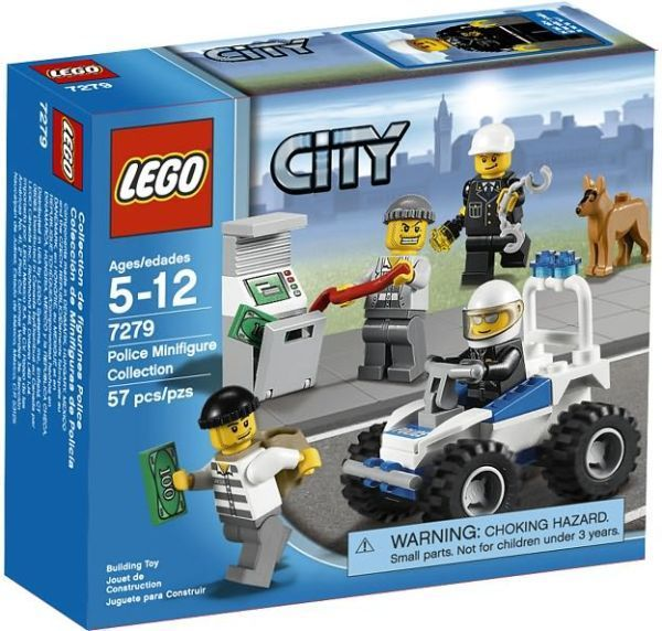 LEGO 4 NEW CITY MINIFIGURES CONSTRUCTION POLICE FIGURES
