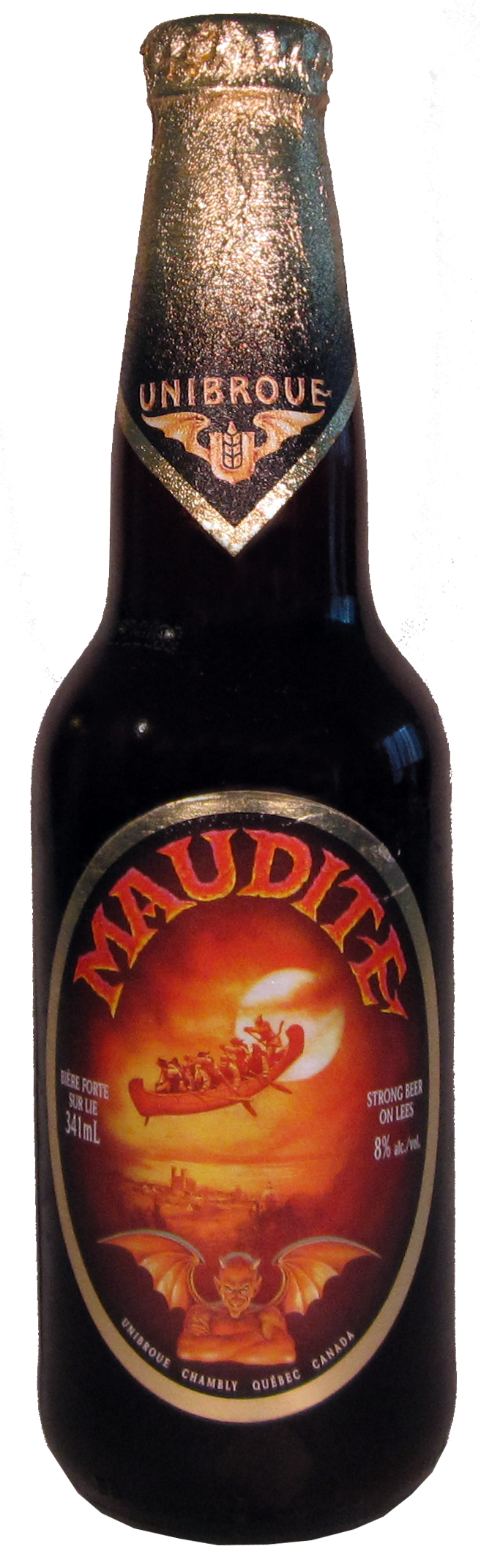 Unibroue Chambly Canada Maudite Belgium Strong Dark Ale All Of The Beers From This Brewery That I Vetried Have Bee Beer Design Craft Beer Beer Cerveja