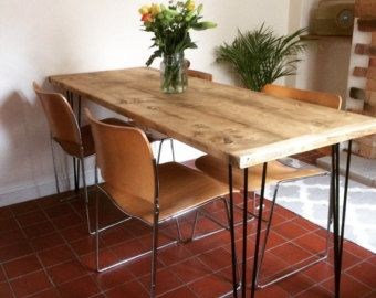 Reclaimed Industrial Chic Seater Dining Table Bar Cafe - Restaurant style kitchen table