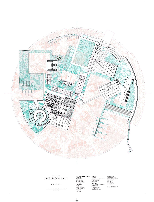 Treasure Island Skye Yuxi Sun At Rca Drawings Diagrams Architectural And Diagram Architecture Concept Board