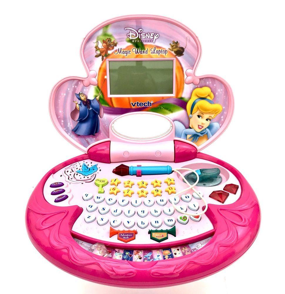Ongebruikt VTech Disney Princess Magic Wand Laptop Childrens Educational Toy NP-31