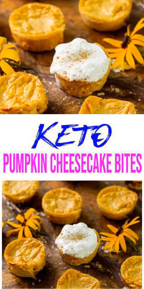 Keto Cheesecake! BEST Low Carb Keto Pumpkin Cheesecake Bites Idea – Quick & Easy Ketogenic Diet Recipe – Desserts – Snacks #cheesecakes