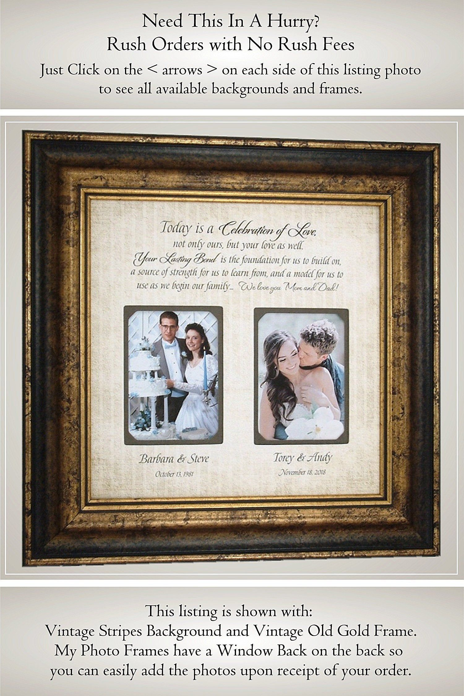 Parents Of The Bride Wedding Gifts From Daughter Parents Etsy Dad Wedding Gift Mom Wedding Gift Wedding Frame Gift