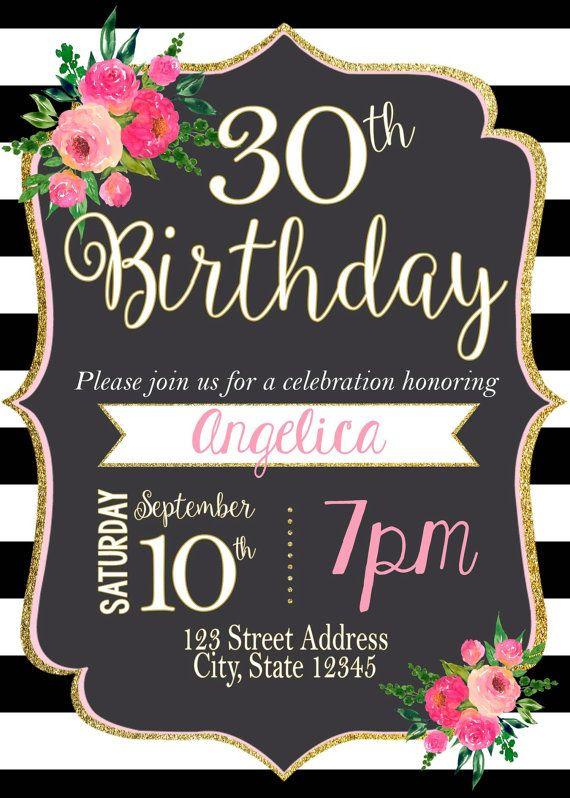 FigueroaArmidaJoseRositaAngelaChristian Para La Deco Y Yashira El Entretenimiento Gorgeous Kate Spade Inspired Floral And Striped Invitation