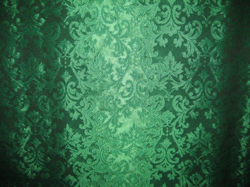 SPUN SILK BROCADE FABRIC EMERALD GREEN COLOUR 44\