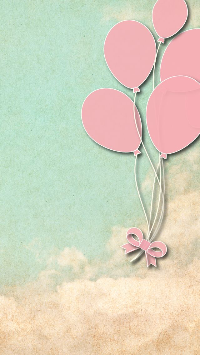 Pastel Pink Balloons Perfect For Vintage Style Papel De Parede