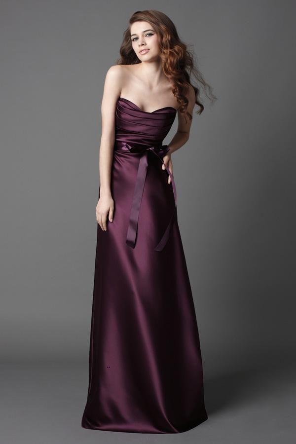 dark plum bridesmaid dresses strapless plum ivory With plum dresses for weddings