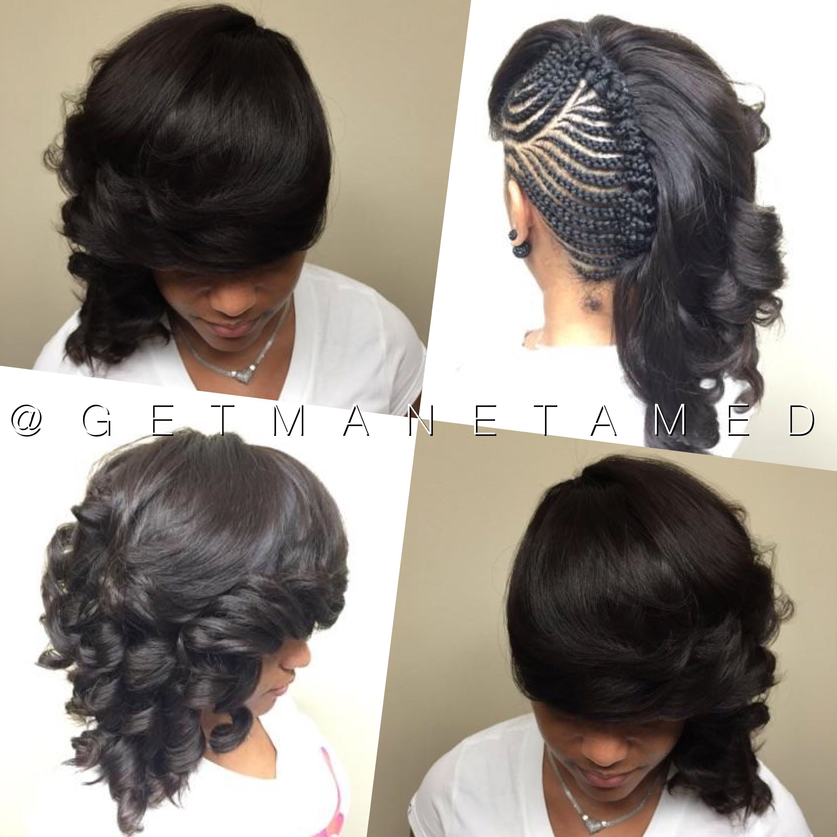 Sew in side sew in sew in and braids cornrows and sew in razor